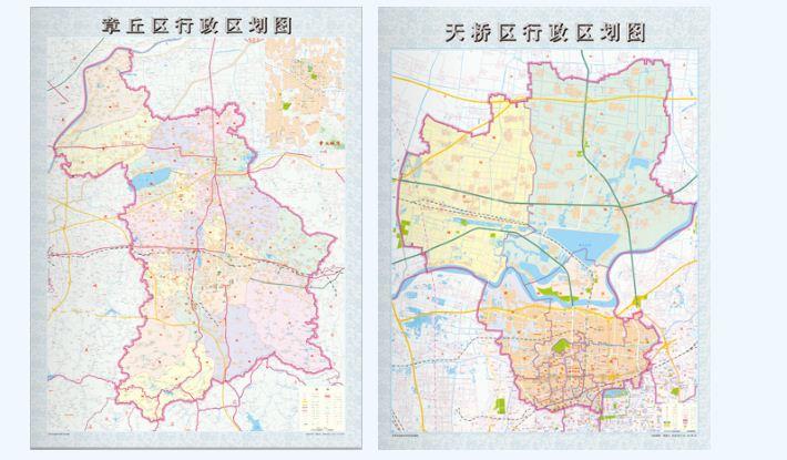 普通地图 (1)济南市地图